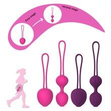 Vaginal balls Erotic sex toy for Women tighten Exercise Kegel Balls 10 Speed Vibrating eggs Silicone Ben wa ball G Spot