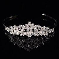 Princess Crown Bride Romantic Rhinestone Butterfly Shape Pageant Hair Ornaments Headband Queen Wedding Tiaras Bride Jewelry