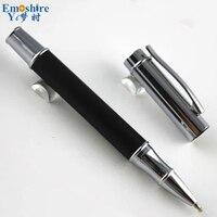 Fashion Advanced Stainless Steel Rod Rotating Metal Ballpoint Pen Commercial Ballpoint Pen Gift Stationery Logo Custom