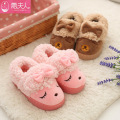 Warm Rabbit Baby Kids Slippers Children Home Shoes For Boys Girls Indoor Bedroom Baby Fur Warm Winter Cotton Slipper Soft Bottom