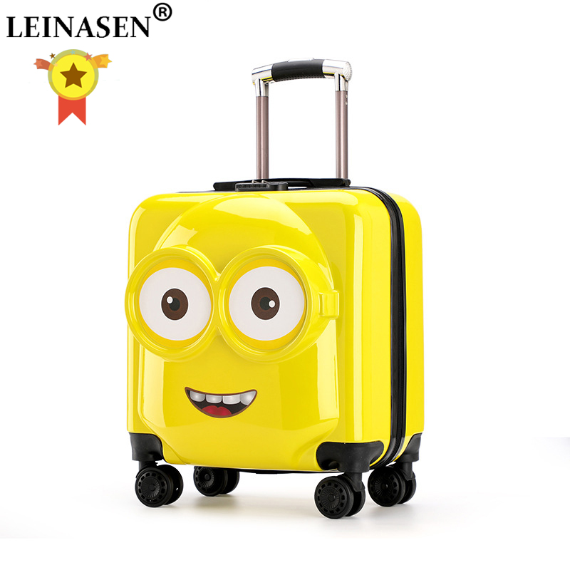 Kids Suitcase Trolley Rolling-Luggage Children Travel Girl 20inch Boy 3D Toys