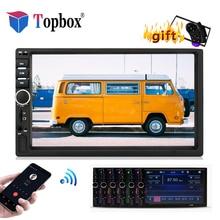 """Bauletto Autoradio 2 Din Auto Radio 7 """"Touch Screen MP4 MP5 Lettore Bluetooth 2din Audio Stereo Staffa del telaio Con videocamera vista posteriore"""