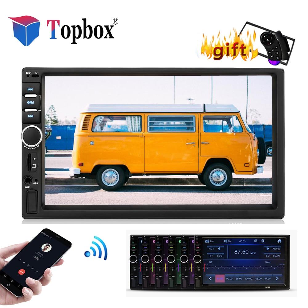 Topbox Autoradio 2 Din font b Car b font Radio 7 Touch Screen MP4 MP5 Player