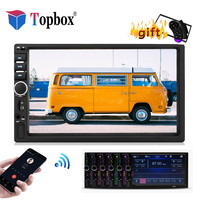 Topbox Autoradio 2 Din Car Radio 7 Touch Screen MP4 MP5 Player Bluetooth 2din Audio Stereo Bracket frame With Rear View Camera