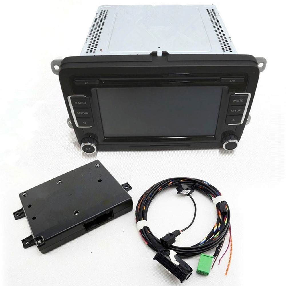 COSTLYSEED RCD510 9W2 Bluetooth Module+Plug&Play Harness+Microphone+ Code Fit VW Jetta MK5 MK6 Golf RCD510 RNS510 5N0 035 190