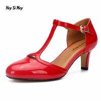 Women T tied shoes plus:36 37 47 48 Spring/Autumn Round Toe zapatos mujer 6cm heel shoes woman Elegant Zapatillas Hot Sale pumps