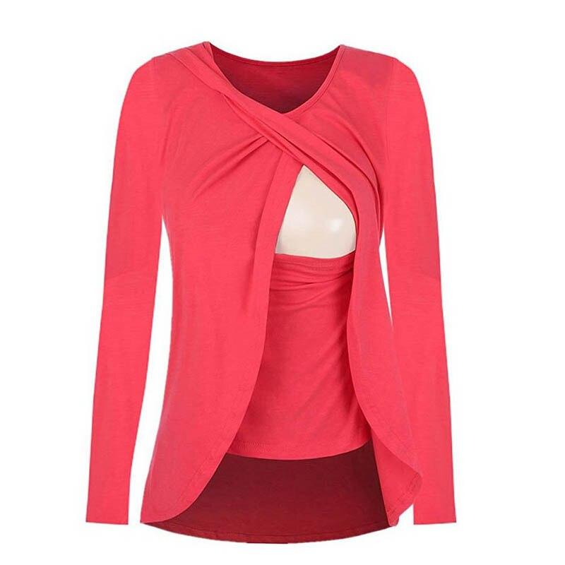 3222fe7e951d BONJEAN Μόδας Εγκυμοσύνη Μητρότητα Ρούχα Βαμβακερά Tops   Μπλούζα ...
