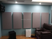 Zero formaldehyde emission non inflammable acoustic fiberglass cloth ceiling board sound absorption panel