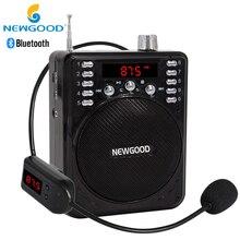 Aux Przenośne Głośniki Bluetooth Bezprzewodowy Głośnik Megafon Wzmacniacz Głosu z USB TF Profesjonalny FM Mikrofon Bezprzewodowy