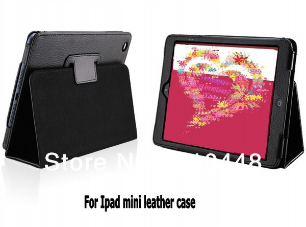Fashion Litchi pattern Retro Magnetic Smart Cover with Stand holder PU Leather case for iPad Mini 1 2 3
