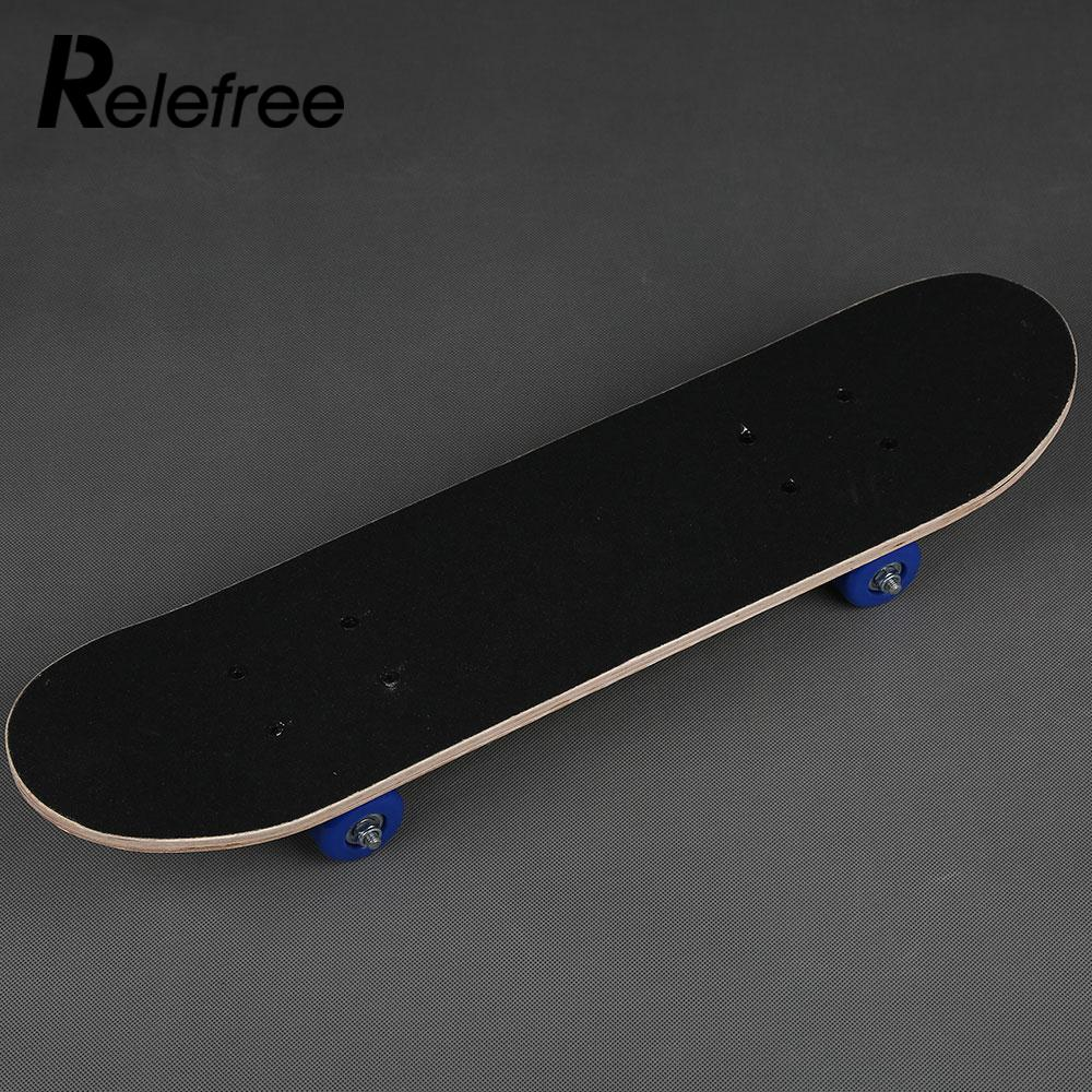 Image 4 - Maple Wood Four Wheel Scooter Deck Skateboard Extreme Sports Popular Complete Skateboard Single Warping Slide Skate Board-in Skate Board from Sports & Entertainment