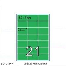 50 แผ่น 11 ขนาด Matt สีเขียว Self   กาวกระดาษสติกเกอร์ A4 แผ่นพิมพ์ Copy ป้ายกำกับกิจกรรมสำหรับเลเซอร์อิงค์เจ็ทเครื่องพิมพ์
