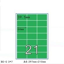 50 blätter 11 größen Matt Grün Selbst Klebe Kraft Papier Aufkleber In A4 Blatt Drucken Kopie Label Event Für laser Inkjet Drucker