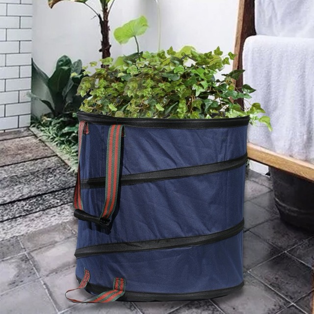 Foldable Pop Up Leaf Trash Can Garbage Storage Bag Collection Leaves Mowing  Garss Plants Bags