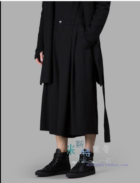 27-42 Europäischen Und Amerikanischen Zeigen Röcke Hosen 2018 Neue Männer Lose Persönlichkeit Breite Bein Hosen Plus Größe Sänger Kostüme