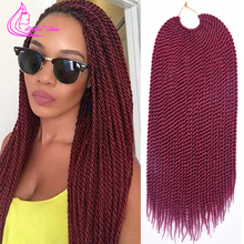 "18"" 30 Strands 75g/pack Best Quality Crotchet Braids Ombre Kanekalon Braiding Hair Crochet Braids Box Braids Hair Extensions"