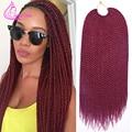 "18"" 30 Strands 75g/pack Best Quality Crotchet Braids Ombre Kanekalon Braiding Hair Crochet Braids Box Braids Hair Extensions"