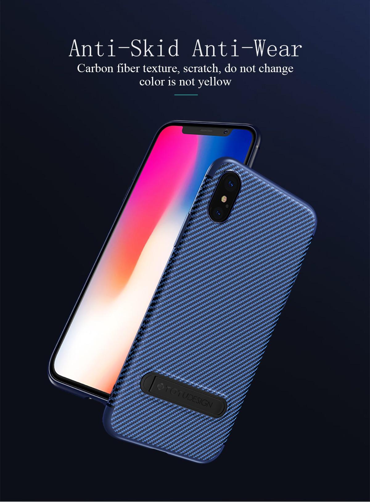 Carbon Fiber Case For Iphone X 8 7 Plustotu Luxury Plus Totu Design Crystal Color Dark Blue Product Description