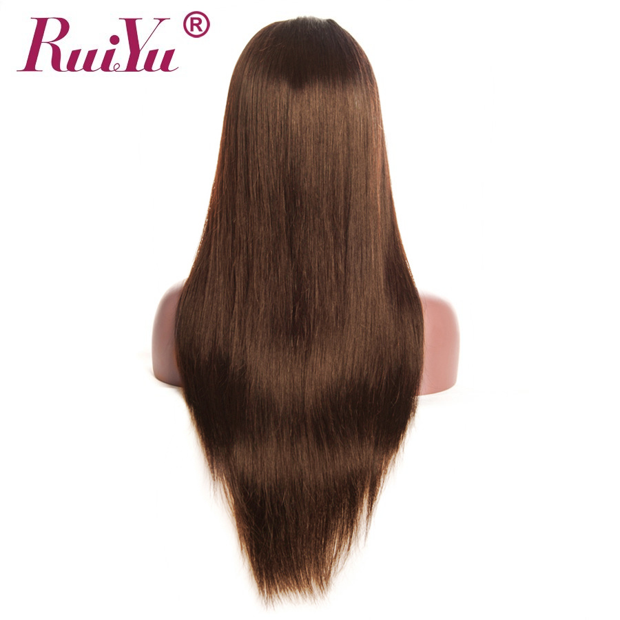 13x4 Lace Front Human Hair Wigs Light Dark Brown Lace Front Wig RUIYU Straight Wigs Remy Wigs With Baby Hair-in Human Hair Lace Wigs from Hair Extensions & Wigs    3