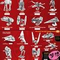 Star wars perdidos no espaço 3d enigma diy brinquedos modelo x-aeronaves de asa de metal at-at r2d2 milênio falcon robô presente das crianças