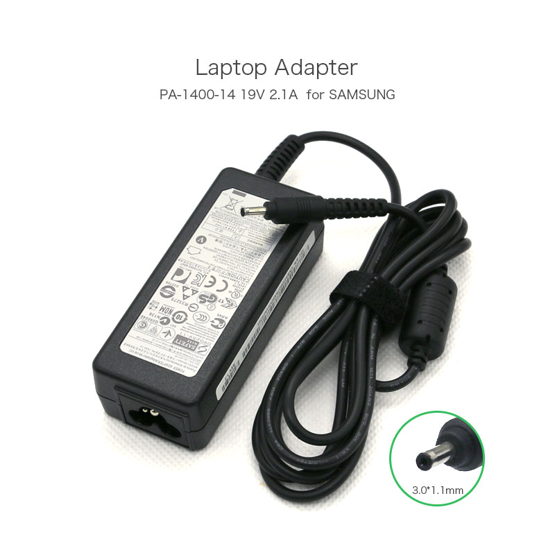 19V 2.1A 40W 3.0*1.1mm Laptop AC Adapter for Samsung Series 9 Notebook NP900X3A NP900X4C PA-1400-14 AD-4019P Power Charger 19v 9 5a 19 5v 9 2a ac adapter tpc ba50 power charger for hp 200 5000 200 5100 200 5200 aio envy 23 1000 23 c000 23 c100 23 c200
