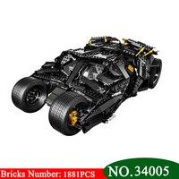 7111 строительных блоков Супер Герои Бэтмен колесница массажер Бэтмобиль летучая мышь Джокер minis кирпичи Bringuedos 76023