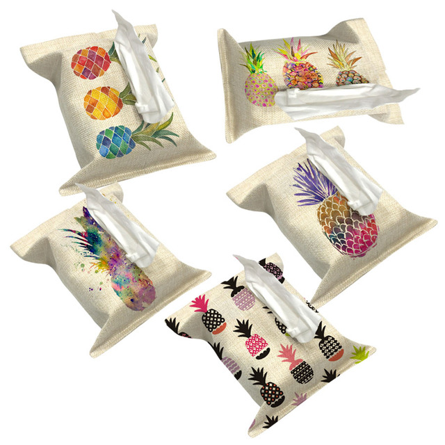 Love And Heart Decorate Tissue Boxes Fabric Linen Cover Car Home