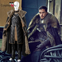 Cosplay Game of Thrones Jon Snow Costume Outfit With Coat Halloween Clothing Ault Men Cosplay Costume Full Set Party Clothes Set