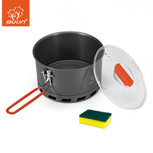 Efficient Shaped Ring Pot 2-3 People Outdoor Portable Camping Tableware Cookware Energy-Saving