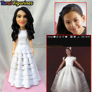 girl in wedding dress communion religious rites resin miniature fantasy miniature ceramic animals dollhouse miniature statue