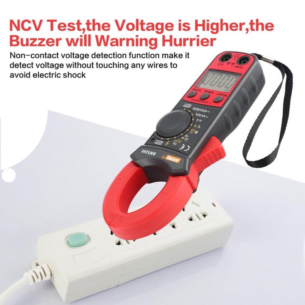 BM5268 Handheld Digital Clamp Meter Multimeter True RMS ACDC Volt Amp Ohm Capacitance Frequency Temperature Diode Tester