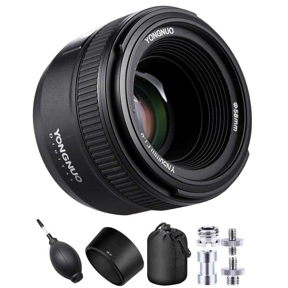 YONGNUO YN50mm F1.8 Grande Ouverture Auto Lentille de Focalisation Pour Nikon D800 D5 D4 D700 D7500 D3500 D500 D7200 D5500 D5300 Objectif D'appareil Photo REFLEX NUMÉRIQUE