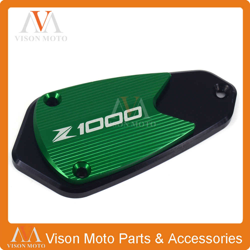 CNC Brake Master Cylinder Reservoir Cap Cover For Kawasaki Z250 Z750R 2011-2015
