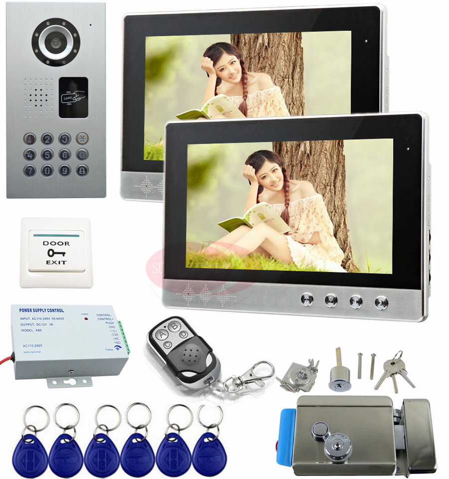 Intercom System For Home 10 HD Apartment Video Intercom With Electric Lock Security Camera Monitoring System