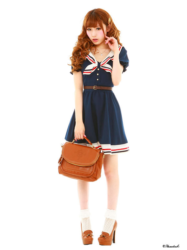 Cosplay Costume Japanese School Uniform Navy Sailor Dress Stripe Bow Anime Girl Lady Lolita Cartoon Character Costumes Gown