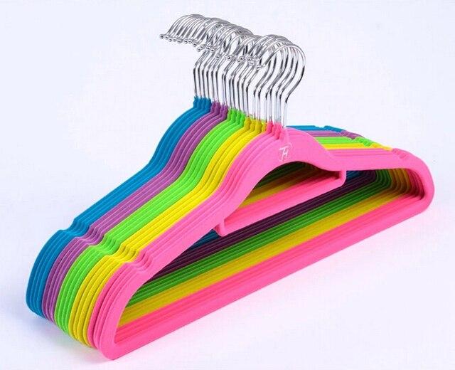 Kleiderbügel Beflockt freies verschiffen bunte qualität beflockung samt kleiderbügel
