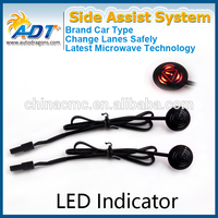 24 GHZ Microwave Radar Automotive Blind Spot Monitor/ Side Assist System With LED Indicator Universal Type Fit for any Vehicle