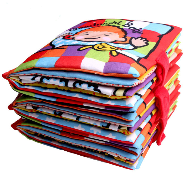 6M+ Baby Mobile Cloth Book Soft Plush Early Educational Toys for Toddlers