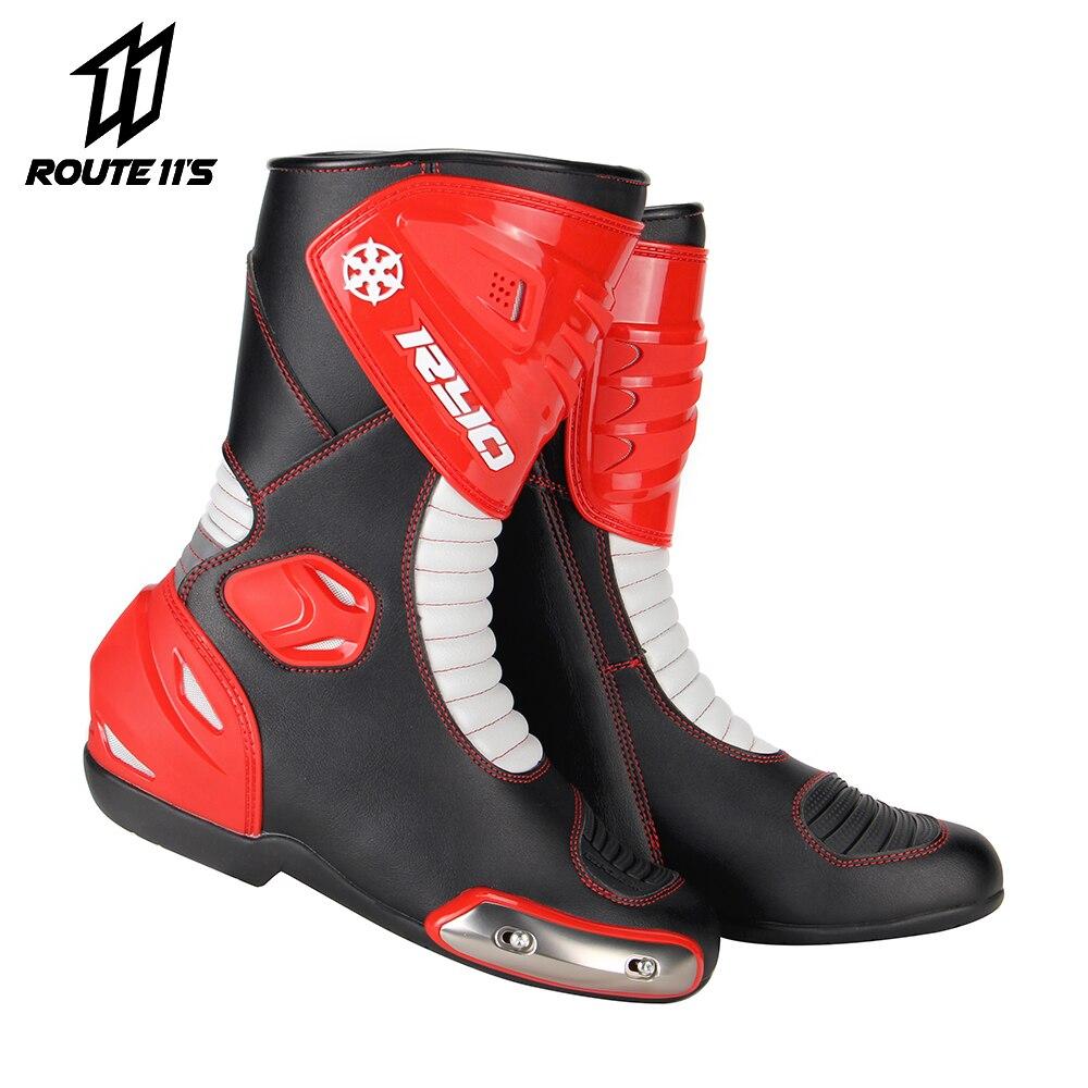 RYO bottes de Moto hommes course Dirt Bike Motocross bottes chaussures de Moto genou-haute équitation chaussures de Moto équipement de protection
