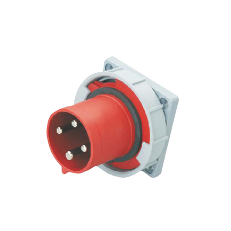 125A 4Pin industrial implement hide direct socket connector SF-644 concealed installation 380-415V~3P+E waterproof IP67  63a 3pin 220 240v industrial waterproof hidden oblique socket waterproof grade ip67 sf 433