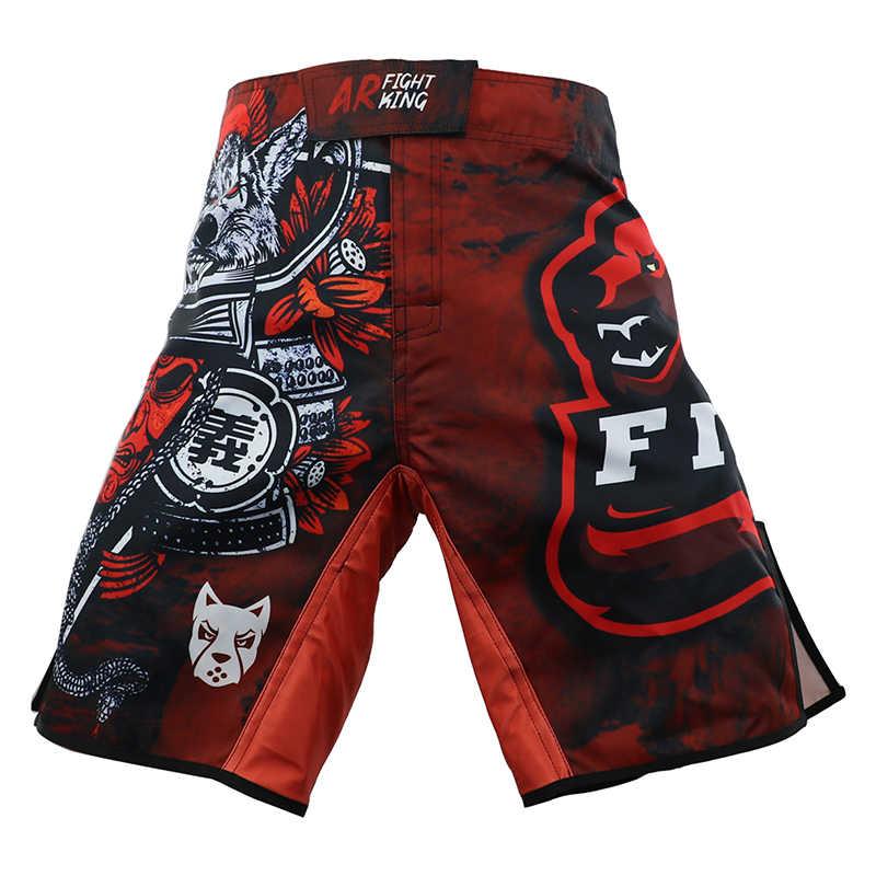 Ninja mma desempenho técnico falcon kickboxing shorts esportes treinamento competição shorts muay thai boxe calças mma curto