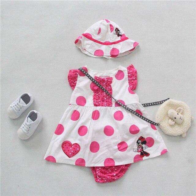 fd3f157837e2 Baby Girls Summer Set Pink Color Cartoon Dress + Shorts + Sun hat 3 ...