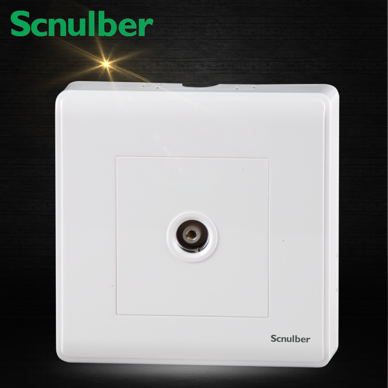 Single 86mmx86mm White Surface Mounted Tv Wall Switch