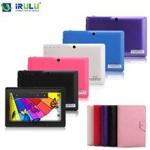 iRULU eXpro X1s 7 дюймовый четырехъядерный процессор Android 4.4.2 планшет Allwinner A33 двойная камера синий планшет с клавиатурой чехлом