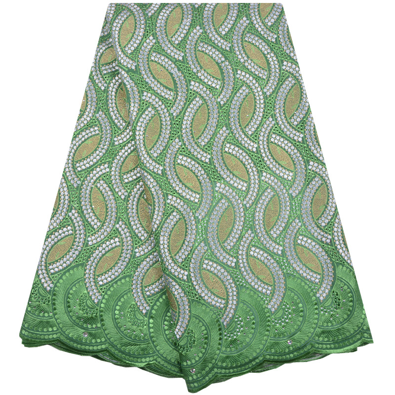 Green Color Nigerian Lace fabrics 2018 African Swiss Voile Lace High Quality Swiss Voile Lace in