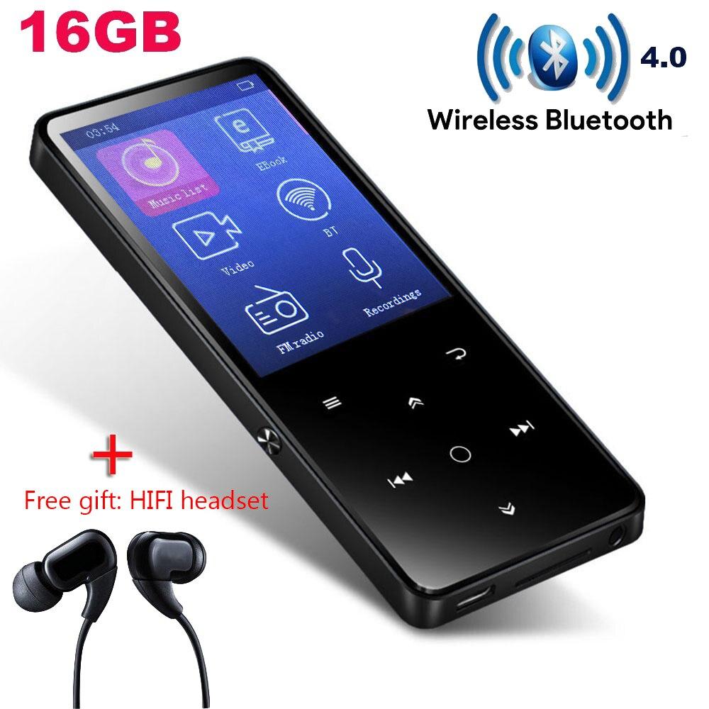 Lecteur CHENFEC MP4 Bluetooth avec écouteurs HIFI/haut-parleur 2.4 touches tactiles écran fm radio mini sport MP4player baladeur portable