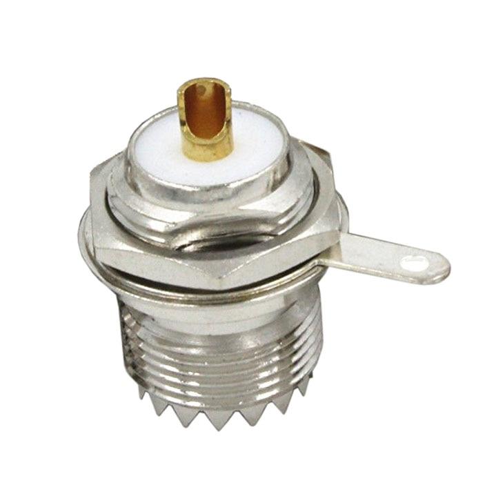1pce UHF Female Jack SO239 écrou Pont de cloisonnement Clip Solder Cup RF connecteur