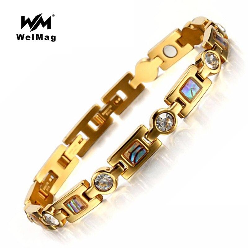 welmag magnetic bracelet women energy therapy bracelets. Black Bedroom Furniture Sets. Home Design Ideas