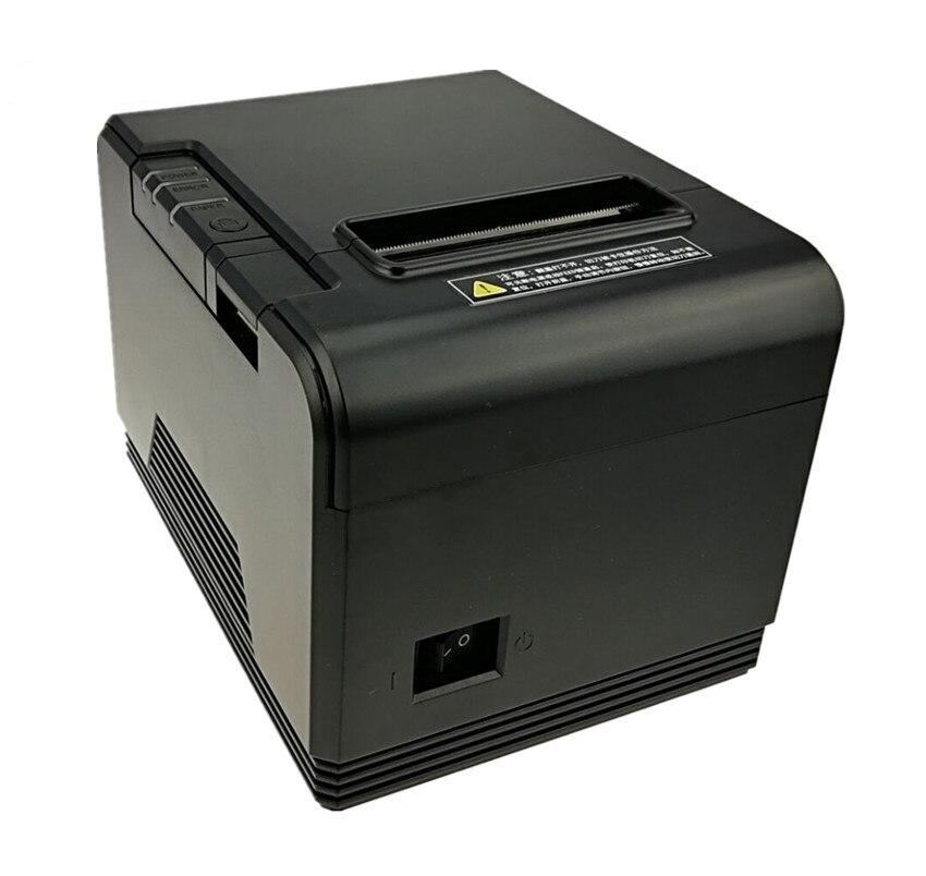 En gros Haute qualité 80mm imprimante thermique de réception Petit billet de code barres d'imprimante de position Avec papier automatique fonction de coupe