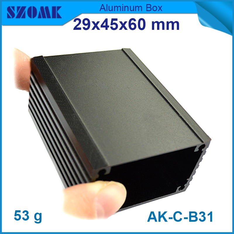 1pc free shipping aluminium box for led driver aluminum enclosures for electronics extruded aluminium enclosures 29x45x60 mm 215 52 263 mm w h l aluminum extruded enclosures housing project box case
